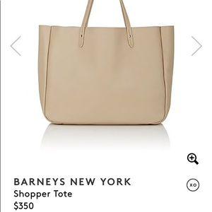 Barney's NY • leather shopper
